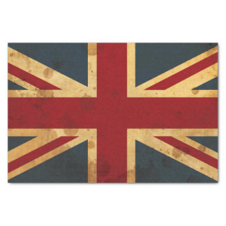 """Stained Union Jack UK Flag 10"""" X 15"""" Tissue Paper"""