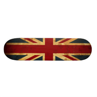 Stained Union Jack UK Flag Skate Boards