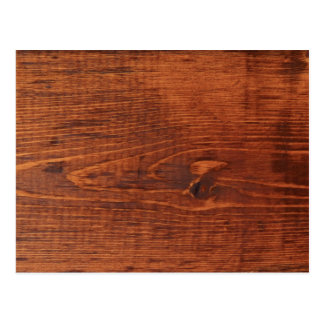 Stained Wood Look Postcard