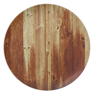 stained wood plate