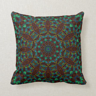 StainedGlass Dodecagram Mandala 2 Pillow