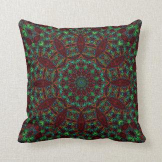 StainedGlass Dodecagram-Mandala 2a Pillow