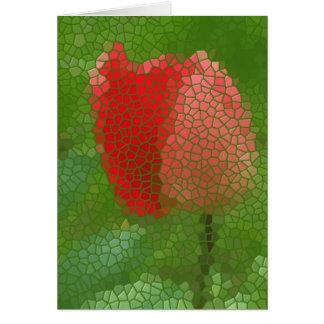 Stainedglass Tulip Card