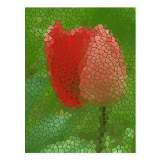Stainedglass Tulip Postcard
