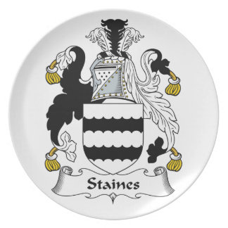 Staines Family Crest Dinner Plates