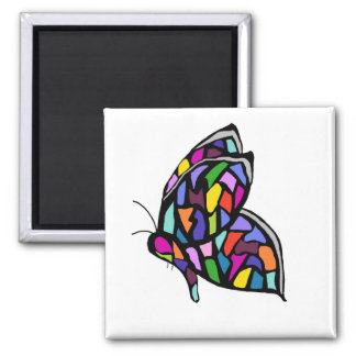 stainglass butterfly magnet