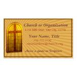 Stainglass Church Window Business Card
