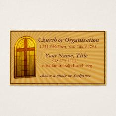 Stainglass Church Window Business Card at Zazzle
