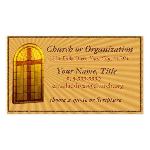 Minister Business Card Templates