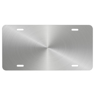 Stainless Circular Glossy License Plate