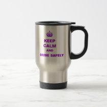 Stainless Steel 15 oz Travel Mug KEEP CALM