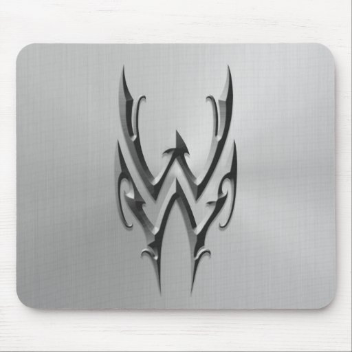 Stainless Steel Aquarius Symbol Mouse Pads