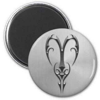 Stainless Steel Aries Symbol Fridge Magnet