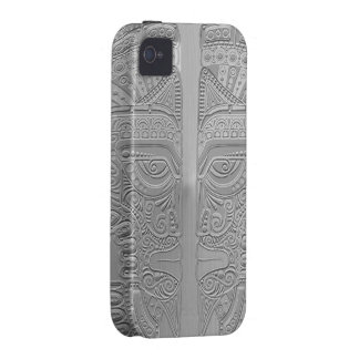 Stainless Steel Aztec Twins iPhone 4/4S Cover