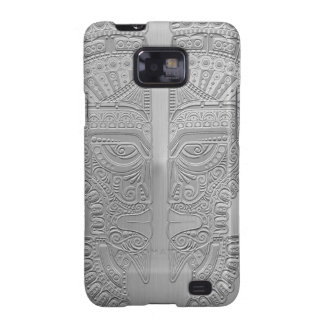 Stainless Steel Aztec Twins Samsung Galaxy SII Cases