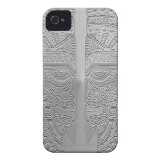 Stainless Steel Aztec Twins iPhone 4 Case-Mate Cases