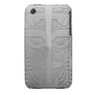Stainless Steel Aztec Twins iPhone 3 Cover