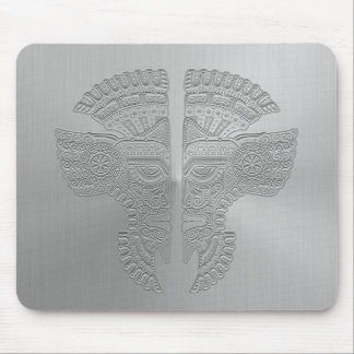 Stainless Steel Aztec Twins Mouse Pad