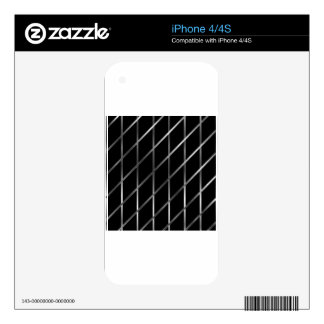 stainless steel background decal for iPhone 4