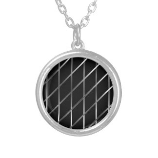 stainless steel background silver plated necklace