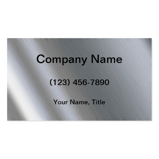 Stainless Steel Double-Sided Standard Business Cards (Pack Of 100)