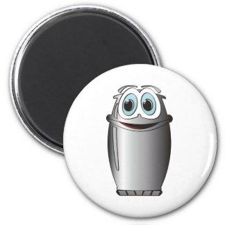 Stainless Steel Cartoon Refrigerator 2 Inch Round Magnet