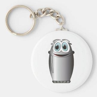 Stainless Steel Cartoon Refrigerator Keychain