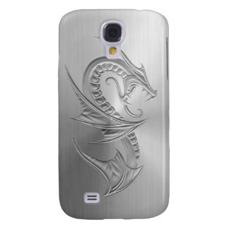 Stainless Steel Effect Dragon Graphic Samsung Galaxy S4 Case