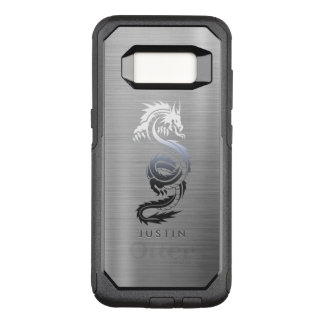 Stainless Steel Effect Dragon OtterBox Commuter Samsung Galaxy S8 Case