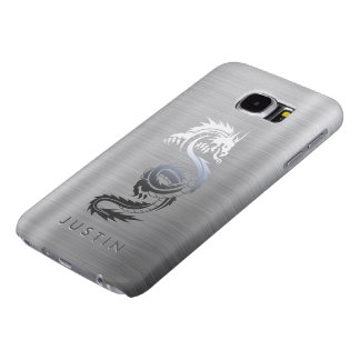 Stainless Steel Effect Dragon Samsung Galaxy S6 Case
