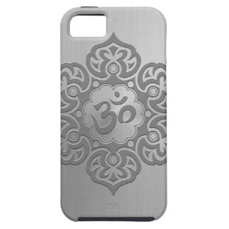 Stainless Steel Effect Floral Aum Graphic iPhone SE/5/5s Case