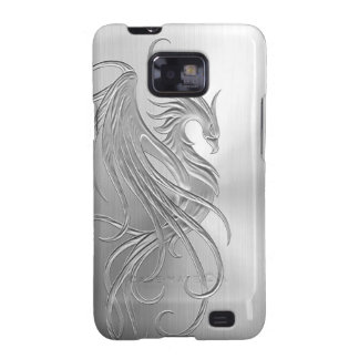 Stainless Steel Effect Phoenix Graphic Galaxy S2 Case