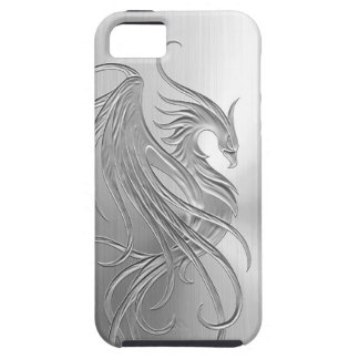 Stainless Steel Effect Phoenix Graphic iPhone SE/5/5s Case