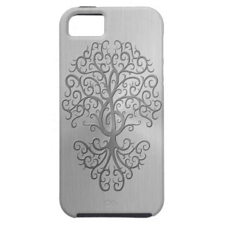 Stainless Steel Effect Treble Clef Tree Graphic iPhone SE/5/5s Case