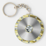 Stainless Steel, Gold & Diamonds Look Key Chains