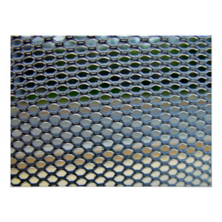 Stainless steel  grille poster