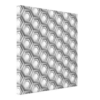 Stainless Steel Hex Tiled Canvas