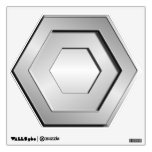 Stainless Steel Hex Wall Decal