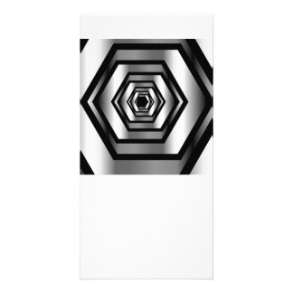 Stainless steel hexagon card