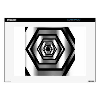 Stainless steel hexagon laptop decal