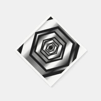 Stainless steel hexagon napkin