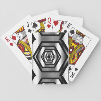 Stainless steel hexagon playing cards