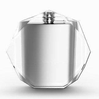 Stainless steel hip flask acrylic award