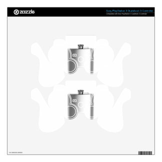 Stainless steel hip flask decal for PS3 controller