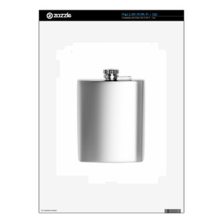 Stainless steel hip flask iPad 2 skins