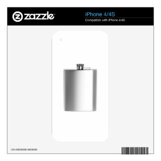 Stainless steel hip flask skins for the iPhone 4