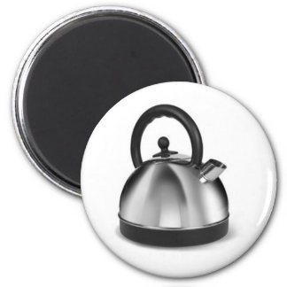 STAINLESS STEEL KETTLE KITCHEN APPLIANCES GRAPHIC 2 INCH ROUND MAGNET