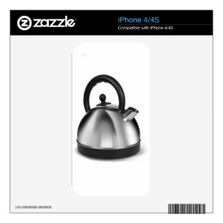STAINLESS STEEL KETTLE KITCHEN APPLIANCES GRAPHIC iPhone 4S SKIN