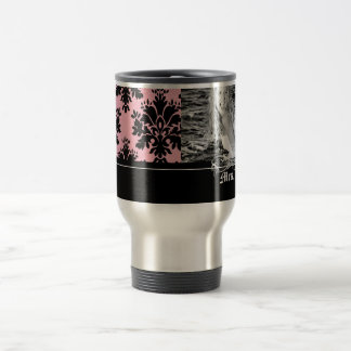 Stainless Steel Large Damask Photo Mug