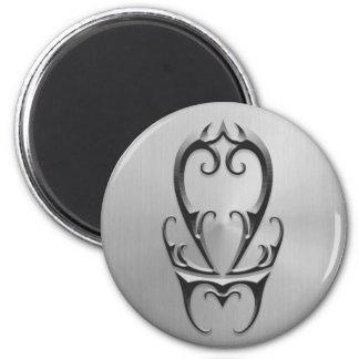 Stainless Steel Libra Symbol Refrigerator Magnet